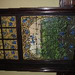  beautiful stained glass in breakfast room