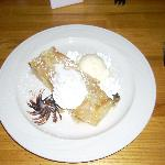 The Strudel was served hot with vanilla ice cream - enough to make anybody go off their diet.