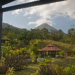  View of Arenal Volcano, behind hotel