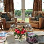 Relax in comfortable lounges at West Down Guest House Umberleigh