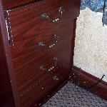 The battered and broken cupboard...