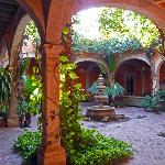The breath-taking courtyard