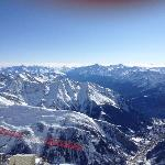 Looking down to Courmayeur
