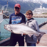 A 34lb King Salmon