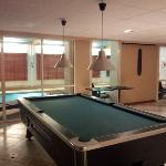 The basement pool table an pool