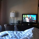 Price is Right (nice flat screen) in bed