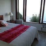 king size bed with spectacular water view