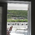 French Doors - balcony view toward Ocean's Edge and SE Peninsula