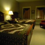 Handmade Amish quilts on our beds!!! Sorry a little fuzzy.