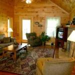 Living Room in single family log cabin