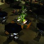 Buffet dinner outside in the square, large group package deal