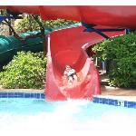 Water slide at the Beach Club