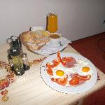 Breakfast served in my room on Sunday morning :)
