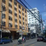  The hotel from the street