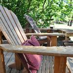  The deck at Cabin 10