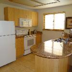 Kitchen area of 1 bedroom suite