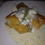 broiled snapper with crabmeat