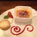 My Mum's creme brulee , with a wee shortbread biscuit