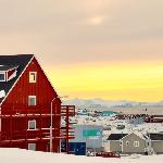Hotel Avannaa has a splendid view over the city and the world renowned Ilulissat Icefjord, now a