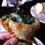  spinach cheese empanada goodness during the old town Pasadena foody field trips tour!  so delici