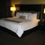  King size bed with Sealy mattress and boutique linens