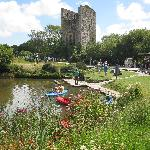 Boating lake, mine engine house and wild flowers !