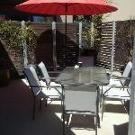 Outdoor dining area at Apartment