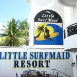 Beachfront patio of Little Surfmaid. Watch the Sunset here with a good bottle of local beer