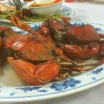 Baked crab with soy sauce