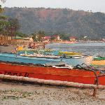 A view from Mangos with local Boats, Subic Bay Philippines