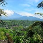 View of Mt.Merapi from my room at Oxalis Regency, Magelang