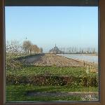 View of Mont Saint Michel from our bedroom window