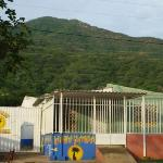 Ocean Reef Guesthouse (prison looking) in Taganga, Colombia