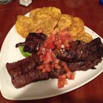 """Churrasco"" with fried plantains!"