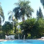  a view from one side of swimming pool