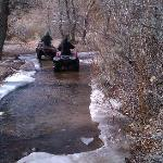 ATV excursion - fording the stream!