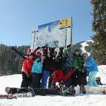 Our group hanging on the slopes