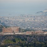 Athens Acropolis from Mount Lycabettus