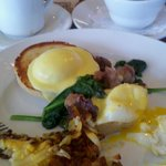 Eggs Benedict with Veal Sweetbreads and Spinach