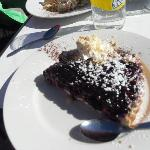 Blueberry tart at La Fee restaurant - Les Deux Alpes
