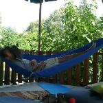 Chilling in the hammock