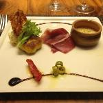 Starters with Cheese and Iberian Ham