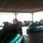 Enjoying the bumper cars