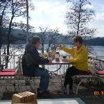Terrase at Bergsee Cafe, Lake Titisee view