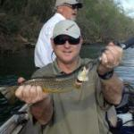 Greg and Mike Johnson with Chris Jackson on the White River