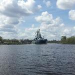 View of the USS North Carolina from the water tour