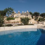 Pool with newly build Trulli