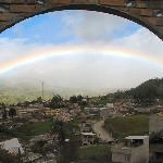 View of rainbow over Saraguro