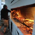 Chef Omar  creates an Asado