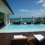 infinity pool next to informal deck dining--my favorite!